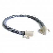 Гибкий кабель-канал ГП для перехода на дверь 6мм, длина 300мм (белый)