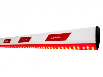 Стрела алюминиевая DoorHan Boom-4-LED c подсветкой для шлагбаума Barrier-4000